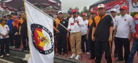 Jalan Sehat Gerakan Sadar Pilkada Dan Launching Pilwalkot Palangka Raya Tahun 2018