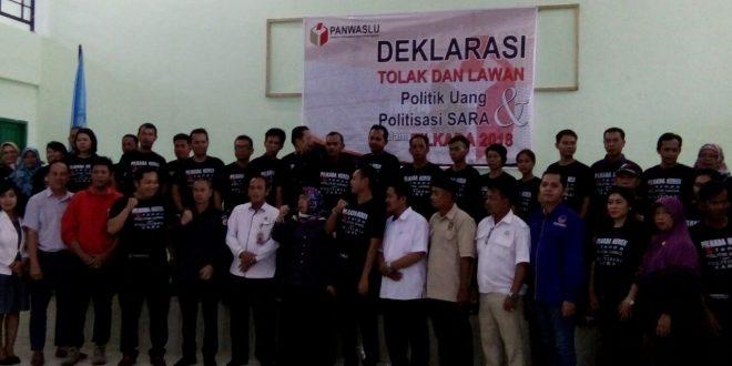 """Deklarasi Bersama """"Tolak dan Lawan Politik Uang dan Politisasi SARA"""""""