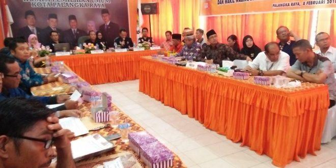 KPU Kota Palangka Raya Gelar Rapat Pleno Rekapitulasi Verfak