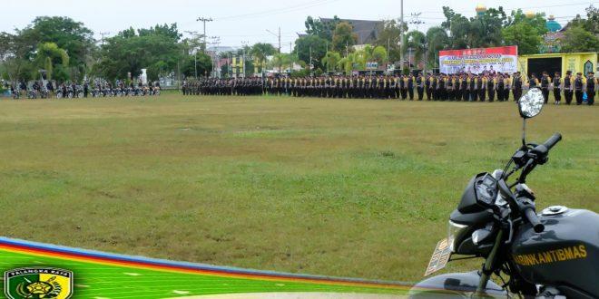 Walikota Palangka Raya Pimpin Apel Pergeseran Pasukan Pengamanan TPS
