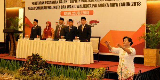 KPU Laksanakan Rapat Pleno Penetapan Walikota dan Wakli Wailkota Palangka Raya Terpilih