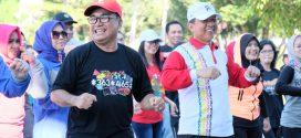 Jaga Kebugaran, Walikota Palangka Raya Ajak Senam Barigas