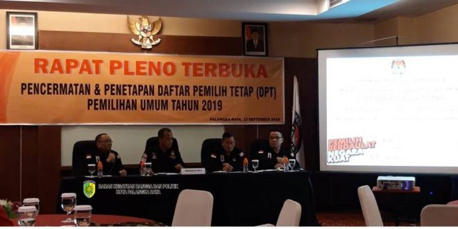 DPT Pemilu 2019 di Palangka Raya 179.253 Jiwa