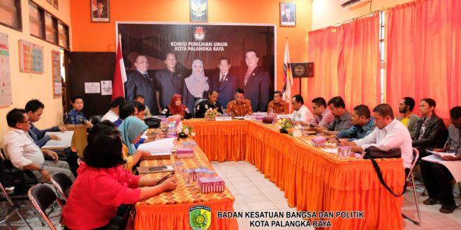 KPU Kota Palangka Raya Gelar Rapat Pleno Penetapan Daftar Calon Tetap Pemilu 2019