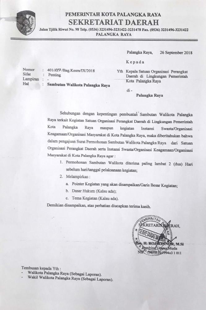 Surat Perjanjian Ijin Sekretariat Badan Kesatuan Bangsa