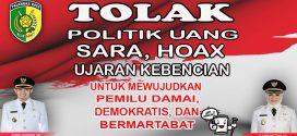 Tolak Politik Uang, Politisasi SARA di Pemilu 2019!