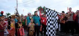Kesbangpol Kota Palangka Raya Meriahkan Karnaval Natal Kebangsaan