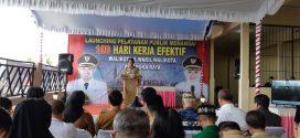 Kerja Nyata 100 Hari; Walikota Palangka Raya Launching Layanan Publik