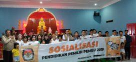 KPU Palangka Raya Sosialisasi di Vihara Avelokitesvara