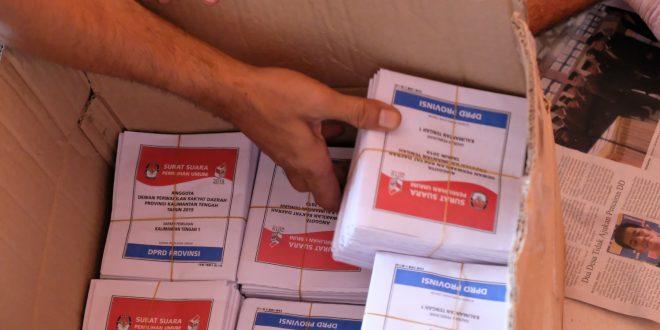 Logistik Belum Lengkap Diterima, KPU Palangka Raya Kebut Pelipatan Surat Suara