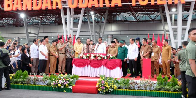 Presiden Jokowi Resmikan Terminal Bandara Tjilik Riwut